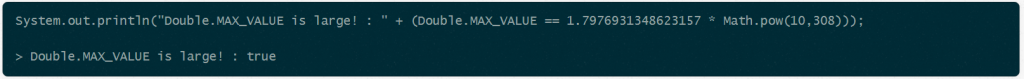 Max double value