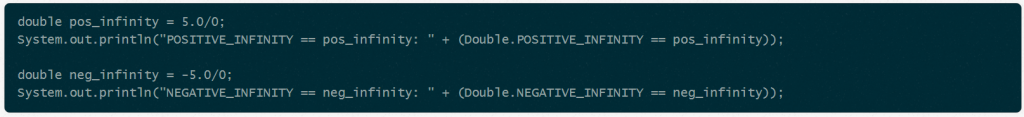 Positive and negative infinity