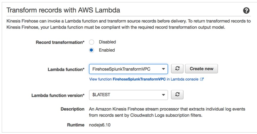 Transform records with AWS